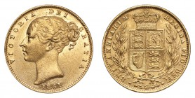 GREAT BRITAIN. Victoria, 1837-1901. Gold Sovereign 1861, London. Shield. 7.99 g. S-3852D. Extremely fine.
