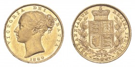 AUSTRALIA. Victoria, 1837-1901. Gold Sovereign 1880-S, Sydney. Shield. 7.99 g. S-3855. Extremely fine.