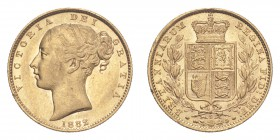 AUSTRALIA. Victoria, 1837-1901. Gold Sovereign 1882-S, Sydney. Shield. 7.99 g. S-3855B. Extremely fine.