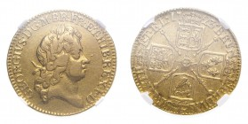 GREAT BRITAIN. George I, 1714-27. Gold Guinea 1723, London. 8.4 g. S-3633. In US plastic holder, graded NGC VF35, certification number 3925701-074.