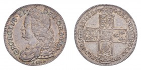 GREAT BRITAIN. George II, 1727-60. Half-Crown 1746 LIMA, London. S-3695; KM 584.3. About extremely fine.