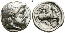 Eastern Europe. Imitation of Philip II of Macedon circa 320 BC. Early series. Tetradrachm AR