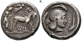 Sicily. Syracuse. Deinomenid Tyranny 485-466 BC. Struck under Gelon, circa 480-478 BC. Tetradrachm AR