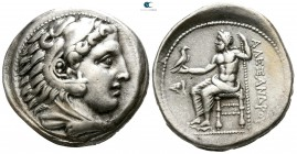 "Kings of Macedon. Pella. Alexander III ""the Great"" 336-323 BC. Struck under Antipater, Polyperchon, or Kassander, circa 325-315 BC. Tetradrachm AR"