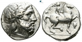Kings of Macedon. 'Amphipolis'. Philip II. 359-336 BC. Tetradrachm AR