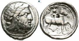Kings of Macedon. 'Amphipolis'. Philip II. 359-336 BC. Struck under Kassander or his son Antipater. Tetradrachm AR