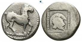 Kings of Macedon. Uncertain mint. Time of Alexander I - Perdikkas II 498-413 BC. Tetrobol AR
