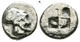 Macedon. Aeneia Before 480 BC. Diobol AR