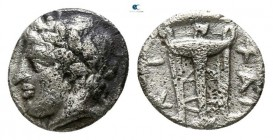 Macedon. Chalkidian League circa 425-420 BC. Hemiobol AR