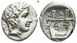 Macedon. Chalkidian League 383-382 BC. Tetrobol AR