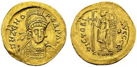 Solidus 476-491, Constantinopolis, 5th officina. RIC 910. AU. 4.32 g. VF-XF