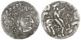 GHUZZ RULERS OF SYR DARYA, 'ABDALLAH B. TAHIR (213-230h) AND MUHAMMAD, Drachm, without mint or date. Obverse: Bust right, 'Abdallah b. Tahir before; R...