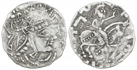 GHUZZ RULERS OF SYR DARYA, 'ABDALLAH B. TAHIR (213-230h) AND NAMIJ JABUYA, Drachm, without mint or date. Obverse: Bust right, 'Abdallah b. Tahir befor...