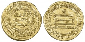 ABBASID, AL-MU'TADID (279-289h), Dinar, Madinat al-Salam 287h. Weight: 4.18g Reference: Bernardi 211Jh. Wavy flan, otherwise good very fine and rare