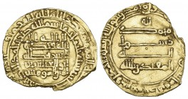 ABBASID, AL-MUQTADIR (295-320h), Dinar, Filastin 300h. Weight: 3.30g Reference: cf Bernardi 242Gn (this date not listed). Clipped below obverse field,...
