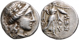 Griechen - Thessalien Drachme 196-27 v.Chr. Apollon, Rs: Athena Itonia Slg. BCD 836. 