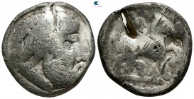 "Eastern Europe. Imitation of Philip II of Macedon. Imitations of Philip II of Macedon 100 BC. ""Tetradrachm"" AR"