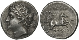 Sicily, Syracuse, 8 Litrai under tyrant Gelon II, ca. 218-214 BC; AR (g 7,00; mm 21; h 12); Diademed head l.; on r., club, Rv.ΣΥΡΑΚΟΣΙΟΙ - ΓΕΛΩΝΟΣ, Ni...