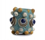 Carthaginian polychrome glass Stratified Eye Bead
