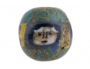 Egyptian Face Bead mosaic glass 