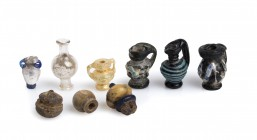 Group of nine Roman Juglet Pendants