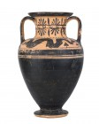 Etruscan Black-Figure Neck Amphora With Ketos