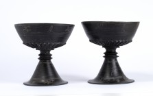 Couple of Etruscan Bucchero Chalices