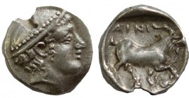 Thrace, Ainos, 408 - 406 BC, Silver Diobol