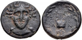 Troas, Alexandreia, 164 - 135 BC, AE20, Facing Apollo, Lyre, ex Cederlind