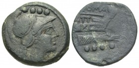 Roman Republic, Anonymous Struck Coinage, after 211BC, AE Triens