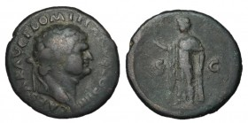 Domitian as Caesar, 69 - 81 AD, AE As, Spes