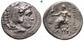 "Kings of Macedon. Sardeis. Alexander III ""the Great"" 336-323 BC. Struck under Menander, circa 324/3 BC. Drachm AR"