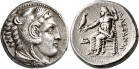 KINGS OF MACEDON. Alexander III 'the Great', 336-323 BC. Tetradrachm (Silver, 24 mm, 17.19 g, 9 h), Amphipolis, struck under Antipater, circa 332-326....