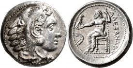 KINGS OF MACEDON. Alexander III 'the Great', 336-323 BC. Tetradrachm (Silver, 25 mm, 17.15 g, 8 h), Amphipolis, struck under Antipater, circa 332-326....