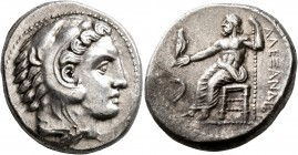KINGS OF MACEDON. Alexander III 'the Great', 336-323 BC. Tetradrachm (Silver, 26 mm, 17.14 g, 11 h), Amphipolis, struck under Antipater, circa 332-326...