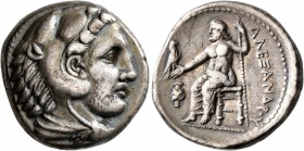 KINGS OF MACEDON. Alexander III 'the Great', 336-323 BC. Tetradrachm (Silver, 24 mm, 17.07 g, 7 h), Amphipolis, struck under Antipater, circa 332-326....