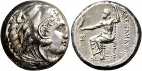 KINGS OF MACEDON. Alexander III 'the Great', 336-323 BC. Tetradrachm (Silver, 24 mm, 17.26 g, 8 h), Amphipolis, struck under Antipater, 332-326. Head ...