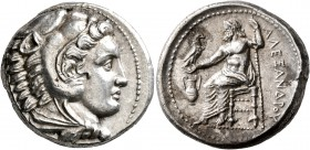 KINGS OF MACEDON. Alexander III 'the Great', 336-323 BC. Tetradrachm (Silver, 26 mm, 17.22 g, 12 h), Amphipolis, struck under Antipater, circa 332-326...