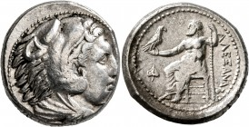 KINGS OF MACEDON. Alexander III 'the Great', 336-323 BC. Tetradrachm (Silver, 24 mm, 17.20 g, 2 h), Amphipolis, struck under Antipater, circa 332-326....
