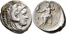 KINGS OF MACEDON. Alexander III 'the Great', 336-323 BC. Tetradrachm (Silver, 27 mm, 17.13 g, 3 h), Amphipolis, struck under Antipater, circa 332-326....