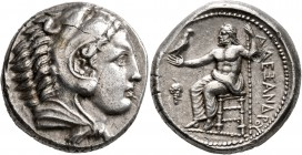 KINGS OF MACEDON. Alexander III 'the Great', 336-323 BC. Tetradrachm (Silver, 24 mm, 17.23 g, 10 h), Amphipolis, struck under Antipater, circa 332-326...