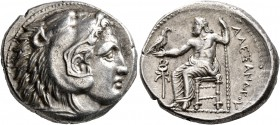 KINGS OF MACEDON. Alexander III 'the Great', 336-323 BC. Tetradrachm (Silver, 26 mm, 17.19 g, 6 h), Amphipolis, struck under Antipater, circa 332-326....