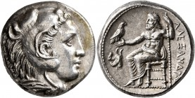 KINGS OF MACEDON. Alexander III 'the Great', 336-323 BC. Tetradrachm (Silver, 24 mm, 17.14 g, 3 h), Amphipolis, struck under Antipater, circa 332-326....
