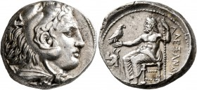 KINGS OF MACEDON. Alexander III 'the Great', 336-323 BC. Tetradrachm (Silver, 25 mm, 17.18 g, 6 h), Amphipolis, struck under Antipater, circa 332-326....