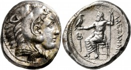 KINGS OF MACEDON. Alexander III 'the Great', 336-323 BC. Tetradrachm (Silver, 26 mm, 17.20 g, 11 h), Amphipolis, struck under Antipater, circa 332-326...