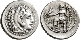 KINGS OF MACEDON. Alexander III 'the Great', 336-323 BC. Drachm (Silver, 18 mm, 4.25 g, 7 h), Miletus, struck under Philoxenos, circa 325-323. Head of...