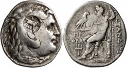 KINGS OF MACEDON. Alexander III 'the Great', 336-323 BC. Tetradrachm (Silver, 29 mm, 16.97 g, 12 h), Priene, circa 280-275. Head of Herakles to right,...