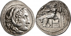 KINGS OF MACEDON. Alexander III 'the Great', 336-323 BC. Tetradrachm (Subaeratus, 31 mm, 13.48 g, 12 h), imitating Rhodes, Hephaistion, magistrate, ci...