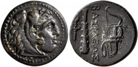 KINGS OF MACEDON. Alexander III 'the Great', 336-323 BC. AE (Bronze, 19 mm, 5.19 g, 12 h), uncertain mint in western Asia Minor, circa 323-310. Head o...