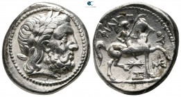 Eastern Europe. Imitation of Philip II of Macedon 300-200 BC. Tetradrachm AR